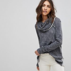 Free People Beach cotton cocoon cowl neck sweater